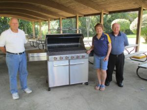 Community Village gas grill donation